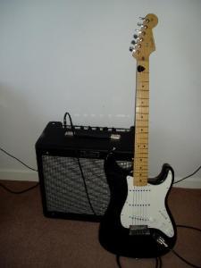 Fender blues junior and US strat